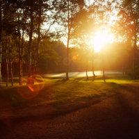 Dawn on the course in Niseko.