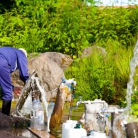 Locals and visitors are welcome to fill water bottles from the many springs.