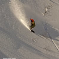 Hidehiko Wajima in a Mt Yotei gully
